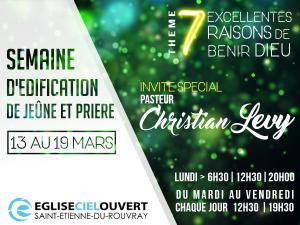 Soirée d'édification avec Christian Levy @ Eglise Ciel Ouvert | Saint-Étienne-du-Rouvray | Haute-Normandie | France
