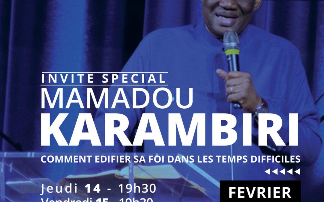 Réunion spéciale – Invité Mamadou KARAMBIRI
