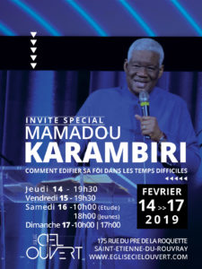 Réunion spéciale - Invité Mamadou KARAMBIRI