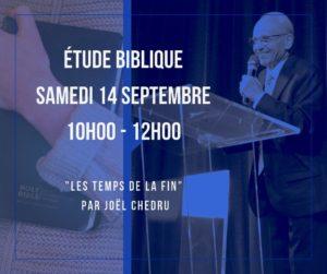 Etude biblique @ Eglise Ciel Ouvert | Saint-Étienne-du-Rouvray | Normandie | France