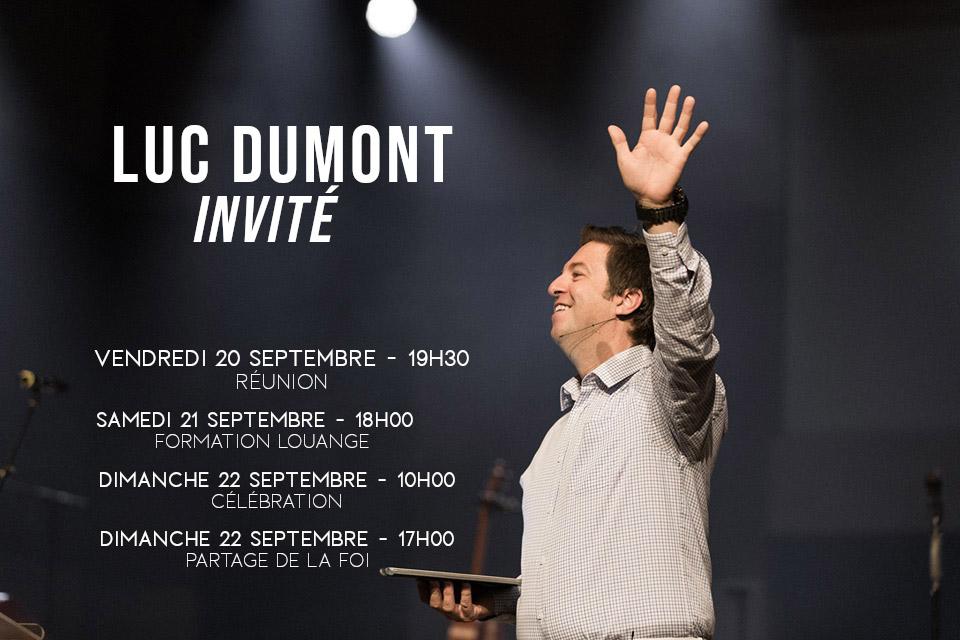 Réunion spéciale – Invité Luc DUMONT